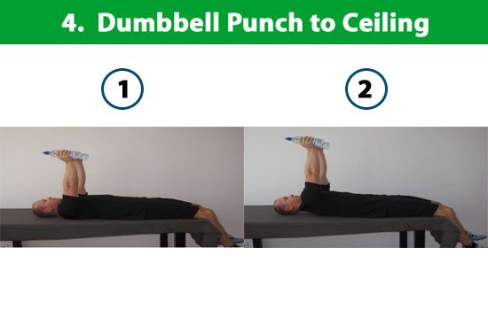 dumbbell punch to ceiling