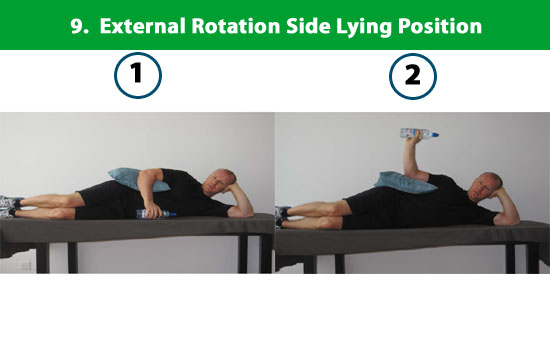 external rotation lying on side