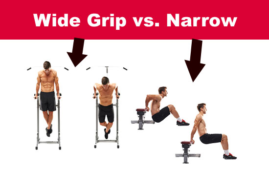 narrow or wide grip