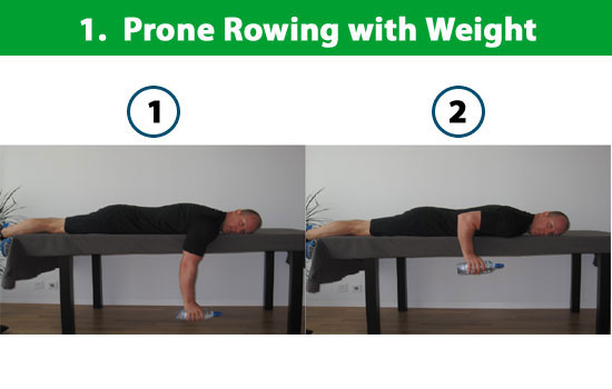 prone rowing with weight