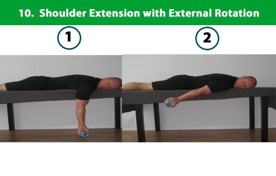 shoulder extension external rotation