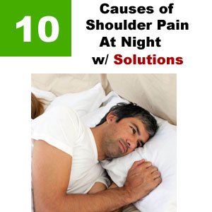 shoulder pain at night