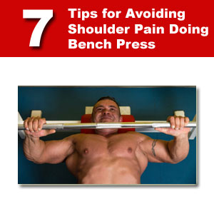 shoulder pain doing bench press