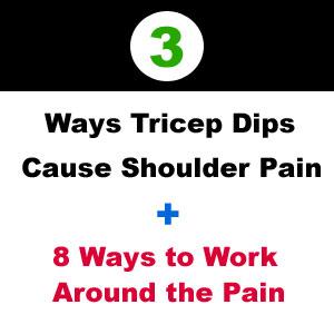 shoulder pain doing dips