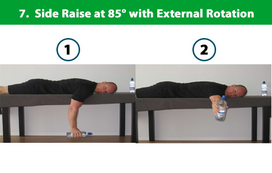 side raise with external rotation